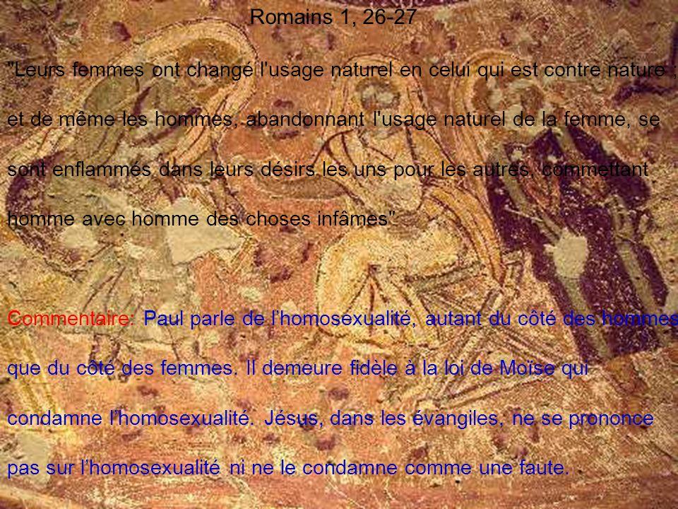 Romains 1, 26-27