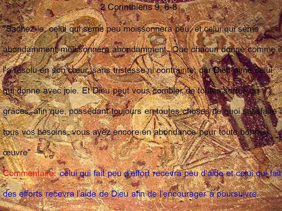 2 Corinthiens 9, 6-8