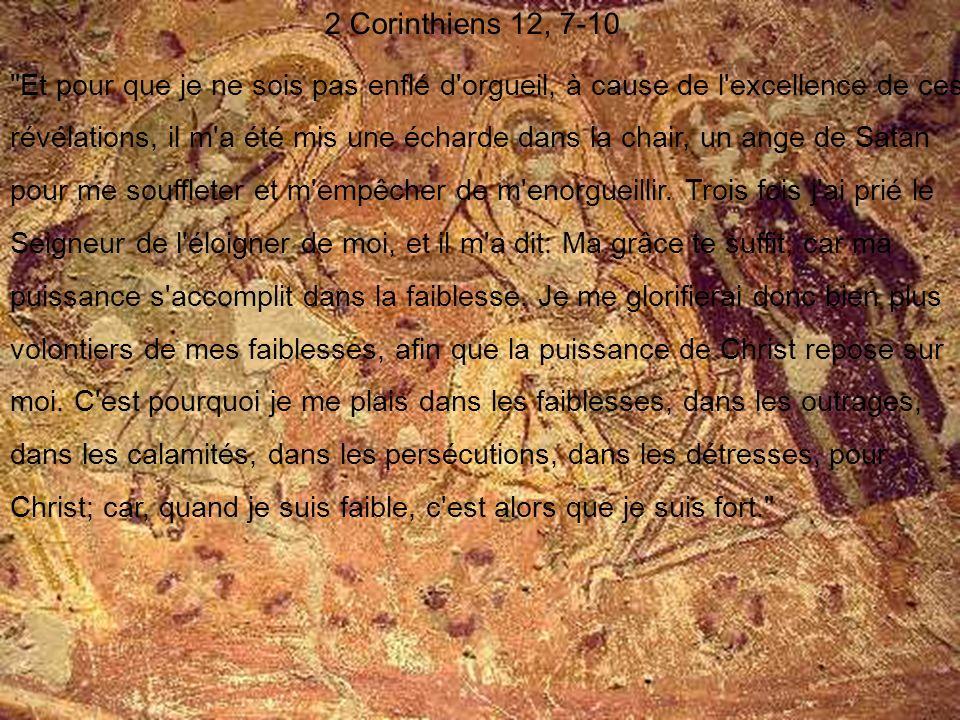 2 Corinthiens 12, 7-10