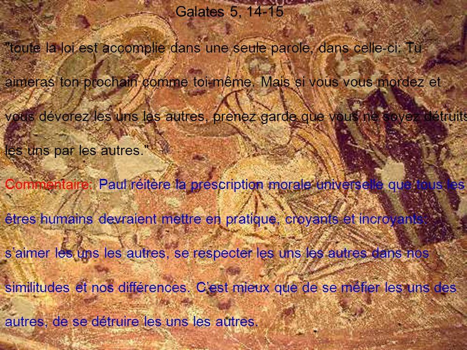 Galates 5, 14-15