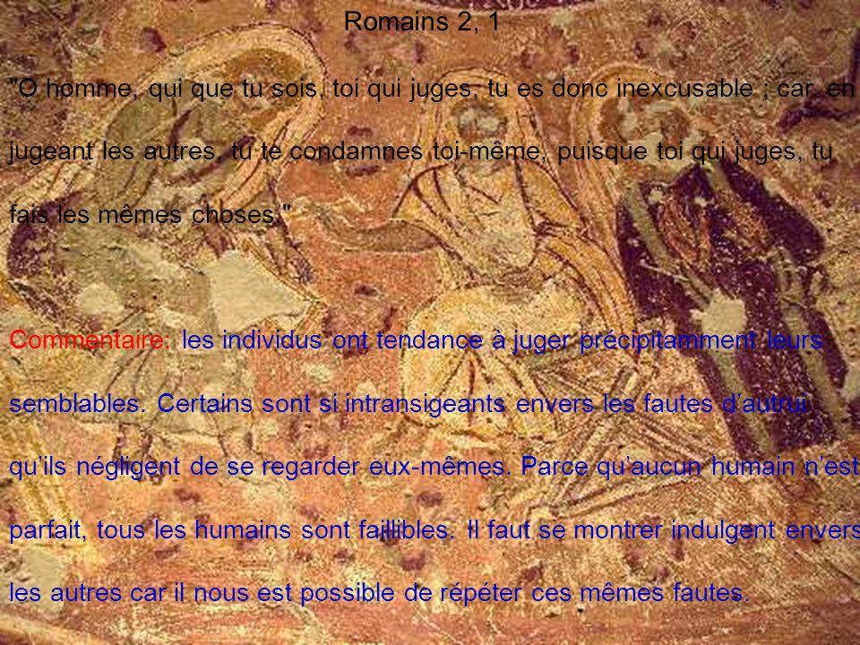 Romains 2, 1