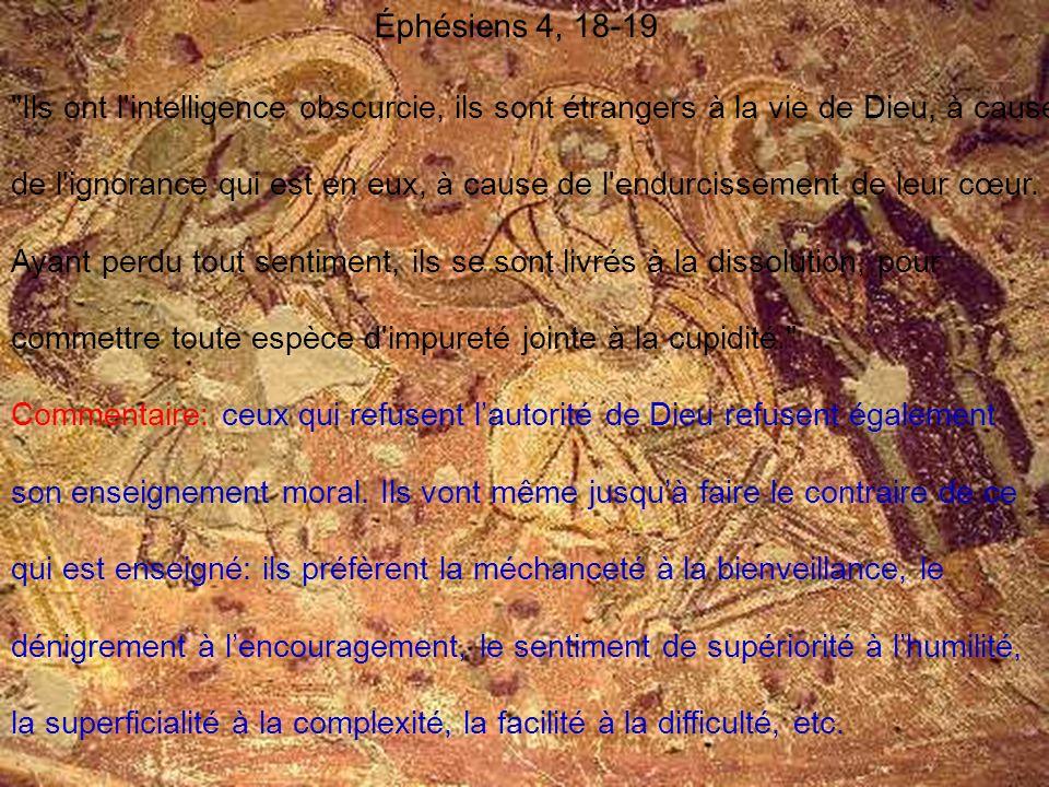Éphésiens 4, 18-19