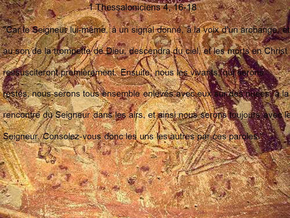 1 Thessaloniciens 4, 16-18