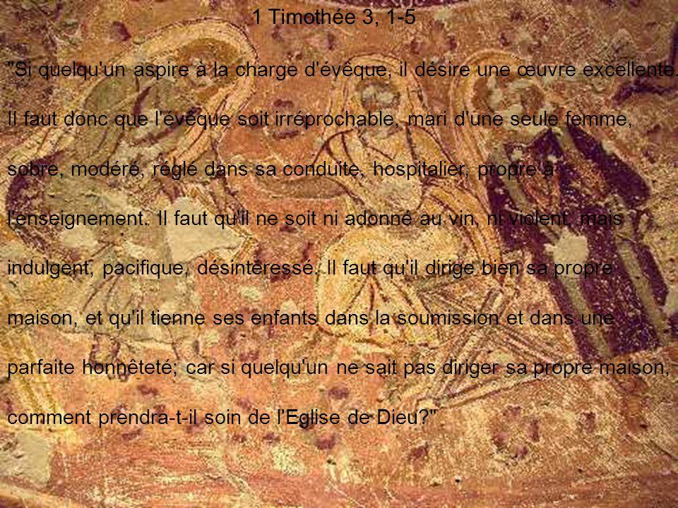 1 Timothée 3, 1-5