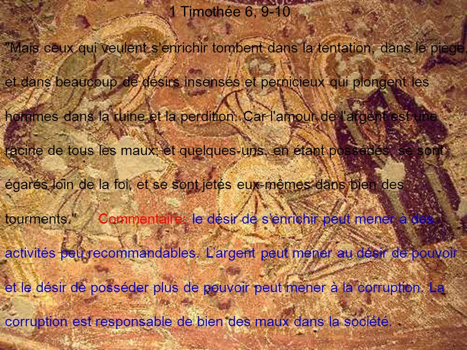 1 Timothée 6, 9-10