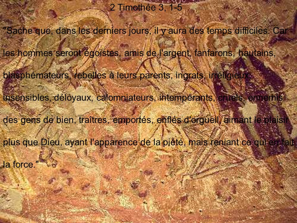 2 Timothée 3, 1-5