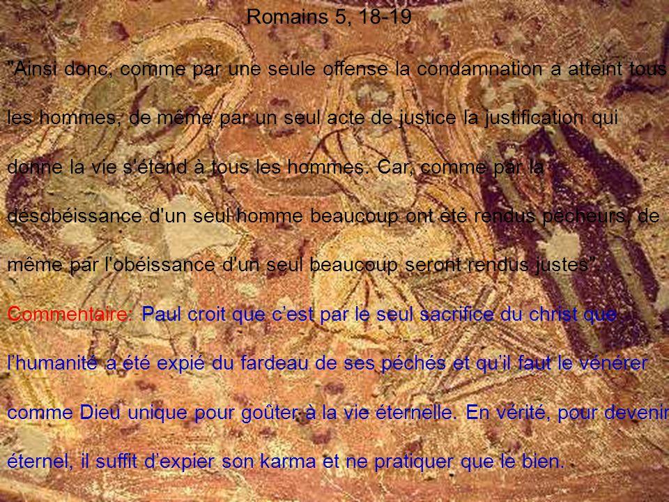 Romains 5, 18-19