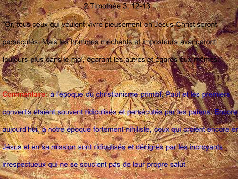 2 Timothée 3, 12-13