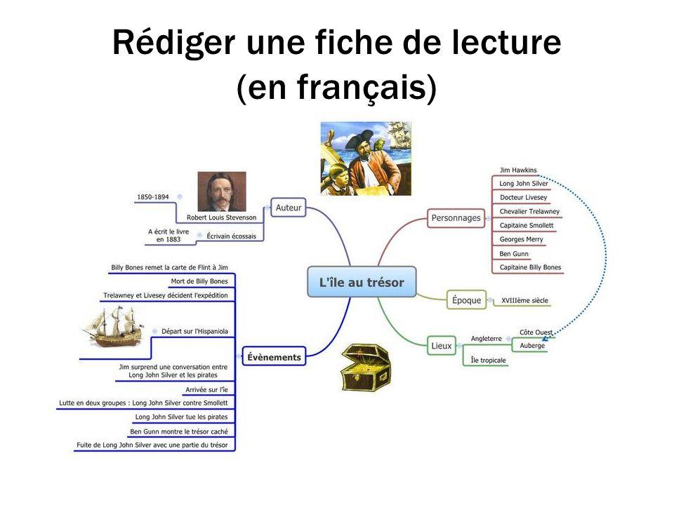 Rédiger une fiche de lecture (en français)