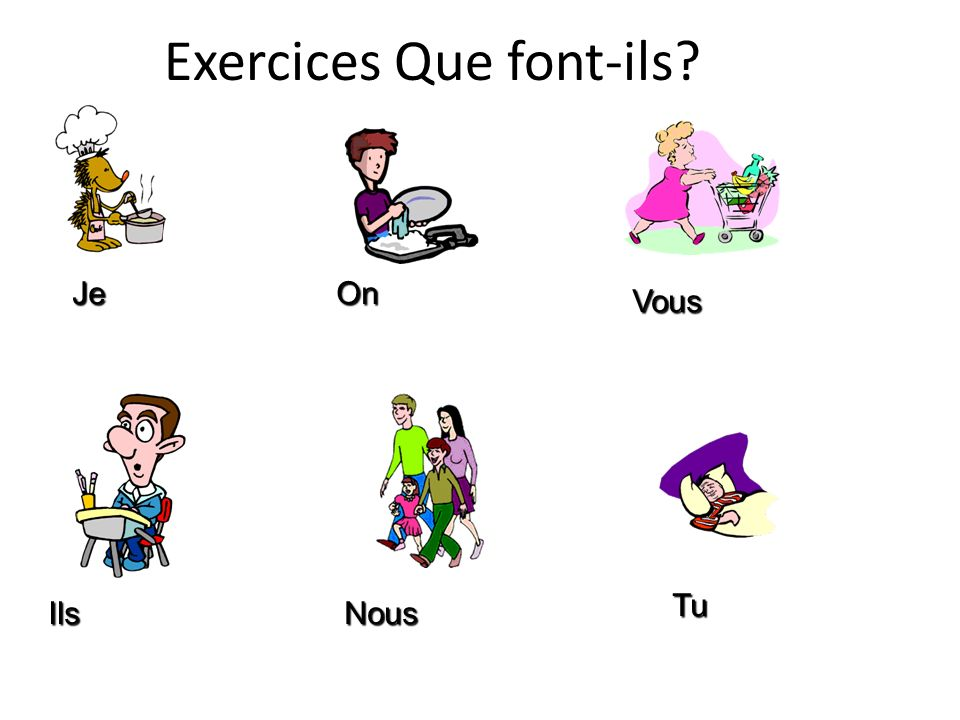 Exercices Que font-ils