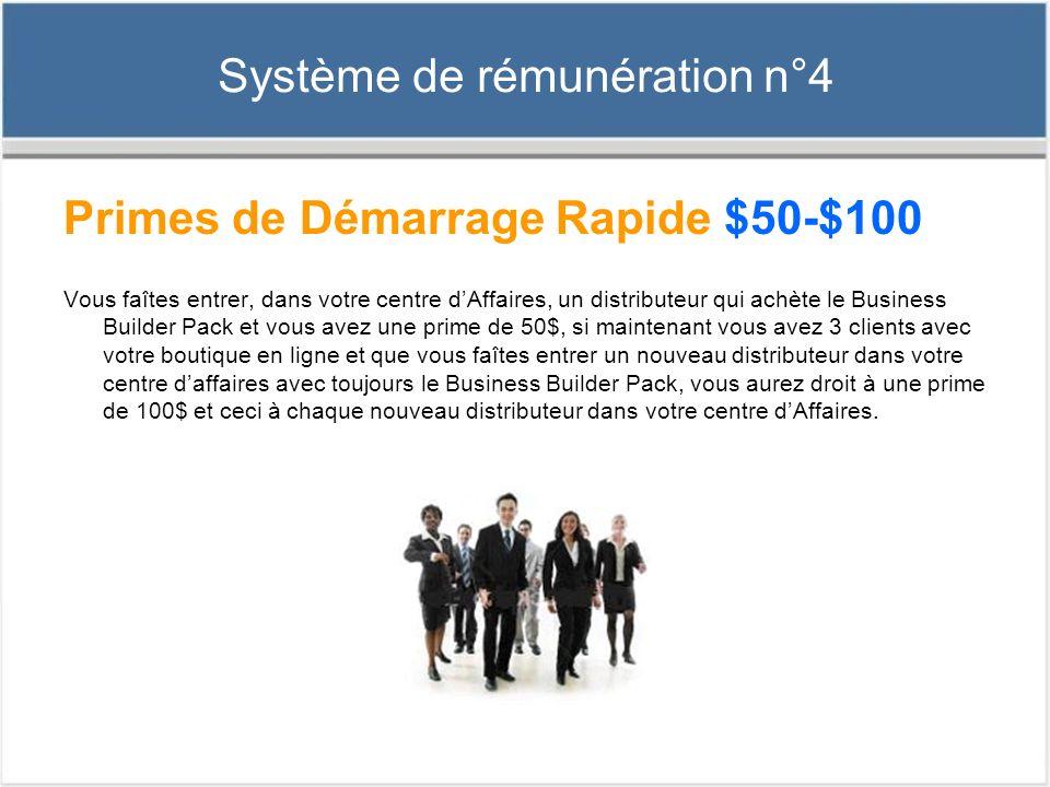 Système de rémunération n°4