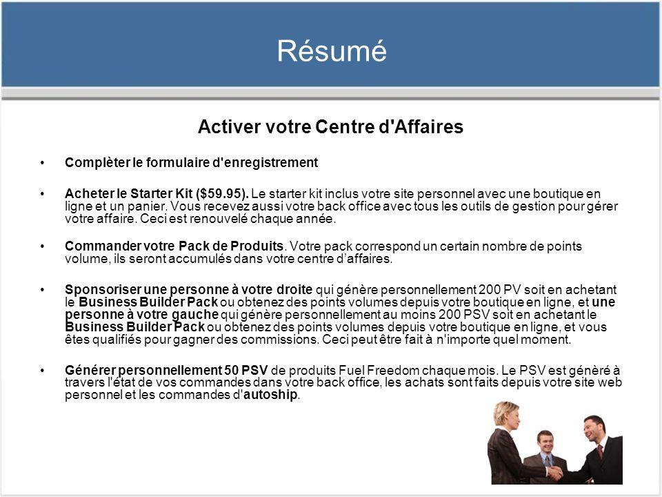 Activer votre Centre d Affaires