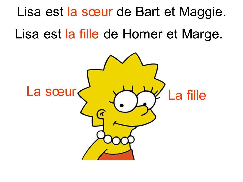 Lisa est la sœur de Bart et Maggie.