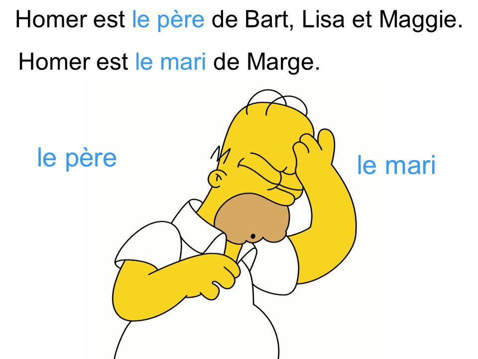 Homer est le père de Bart, Lisa et Maggie.
