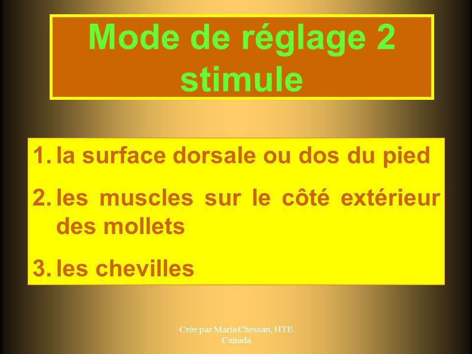 Mode de réglage 2 stimule