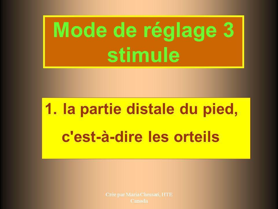 Mode de réglage 3 stimule