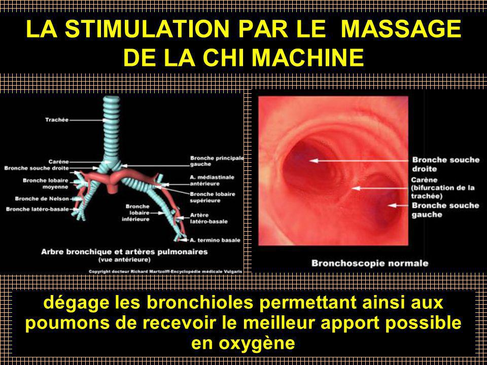 LA STIMULATION PAR LE MASSAGE DE LA CHI MACHINE