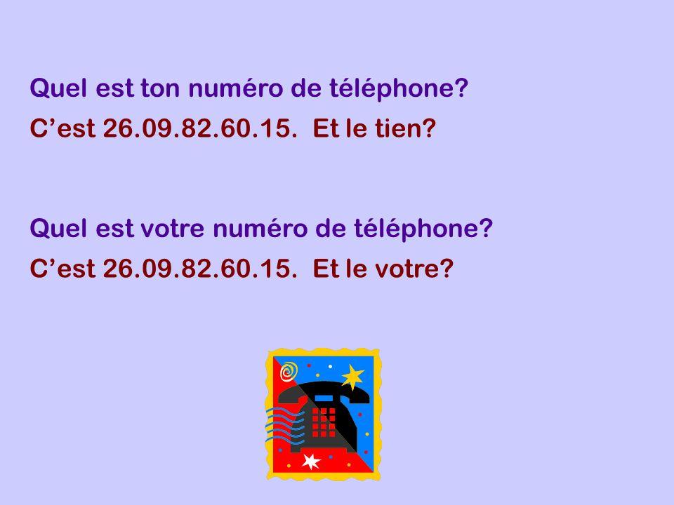 Quel est ton numéro de téléphone