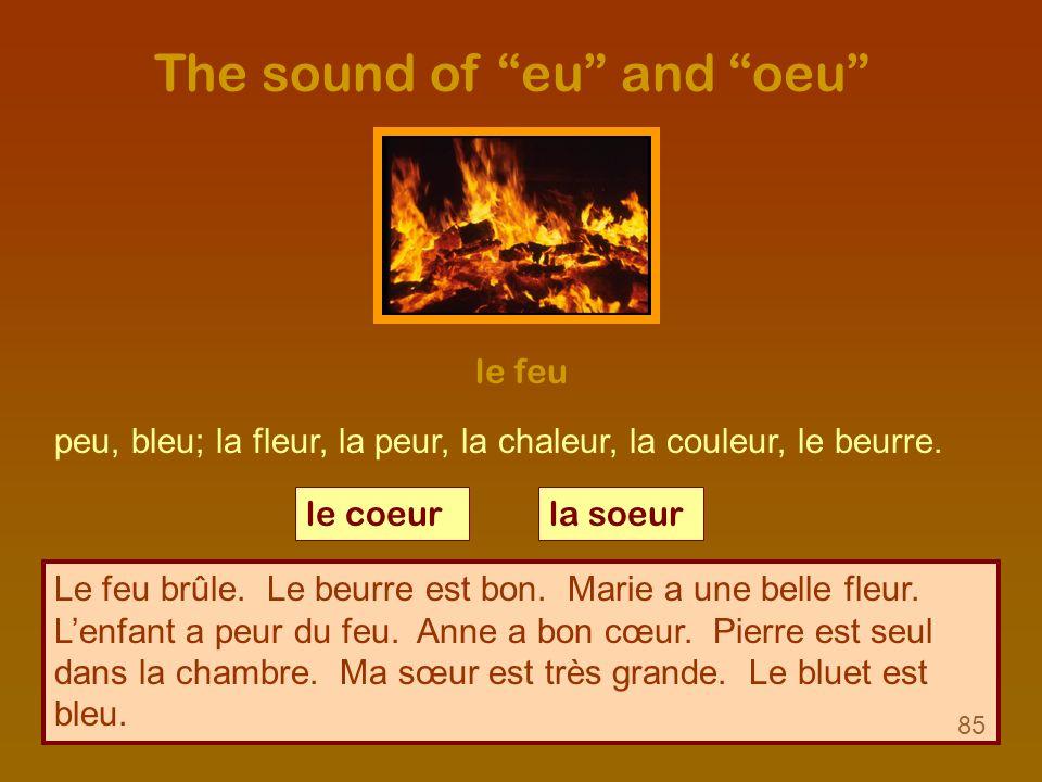 The sound of eu and oeu