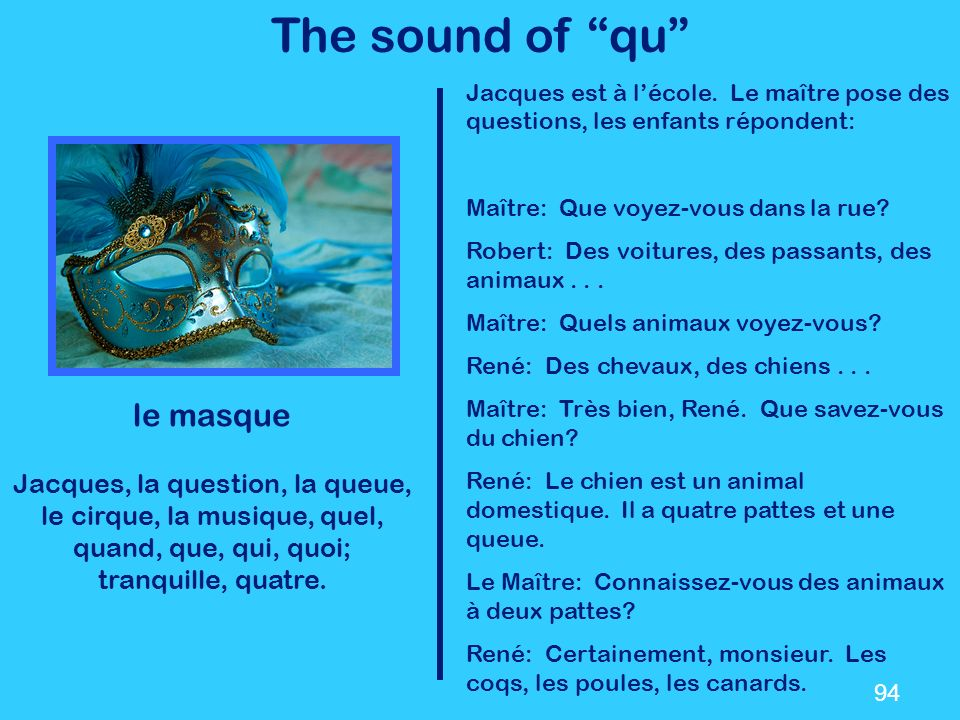 The sound of qu le masque