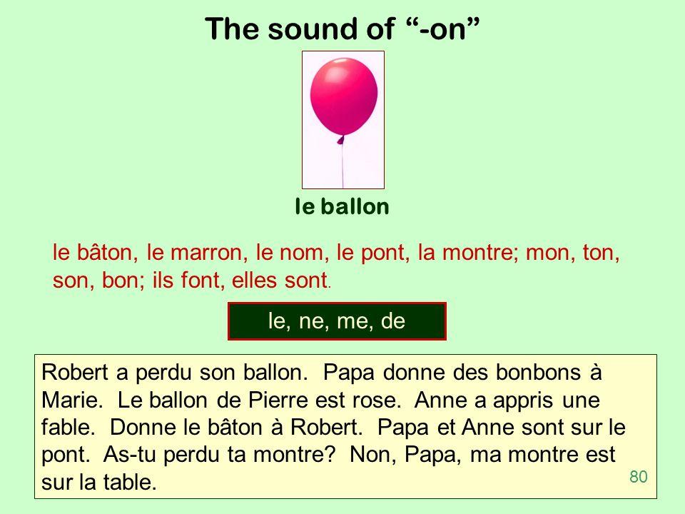 The sound of -on le ballon