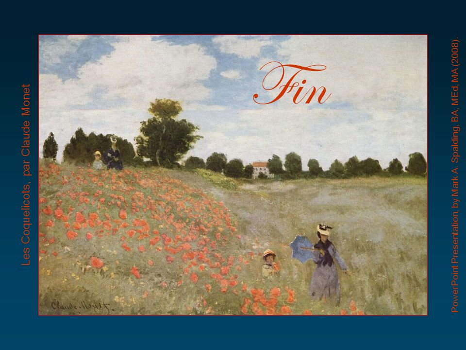Fin Les Coquelicots, par Claude Monet