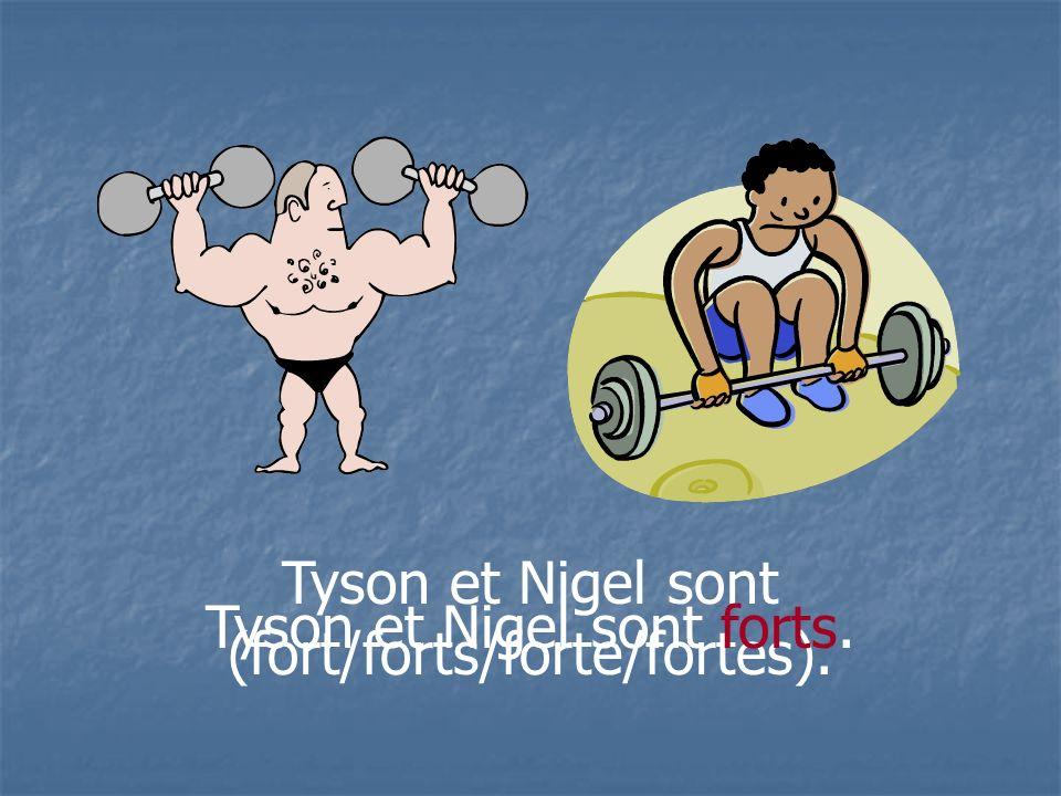 Tyson et Nigel sont (fort/forts/forte/fortes).