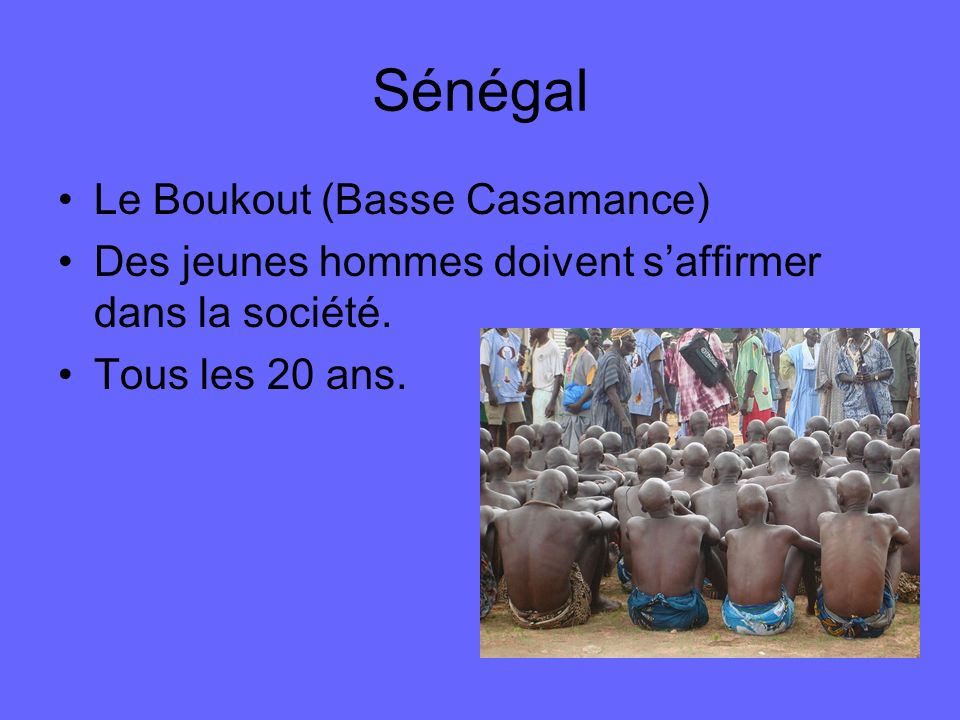 Sénégal Le Boukout (Basse Casamance)