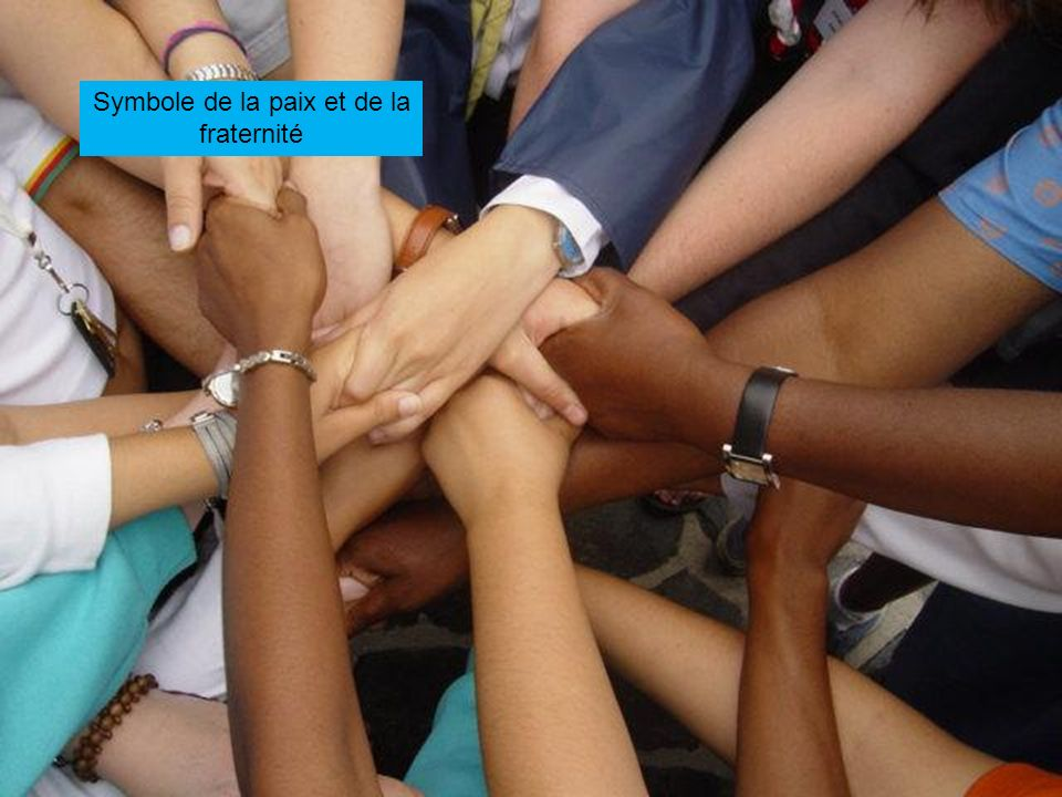 Symbole de la paix et de la fraternité
