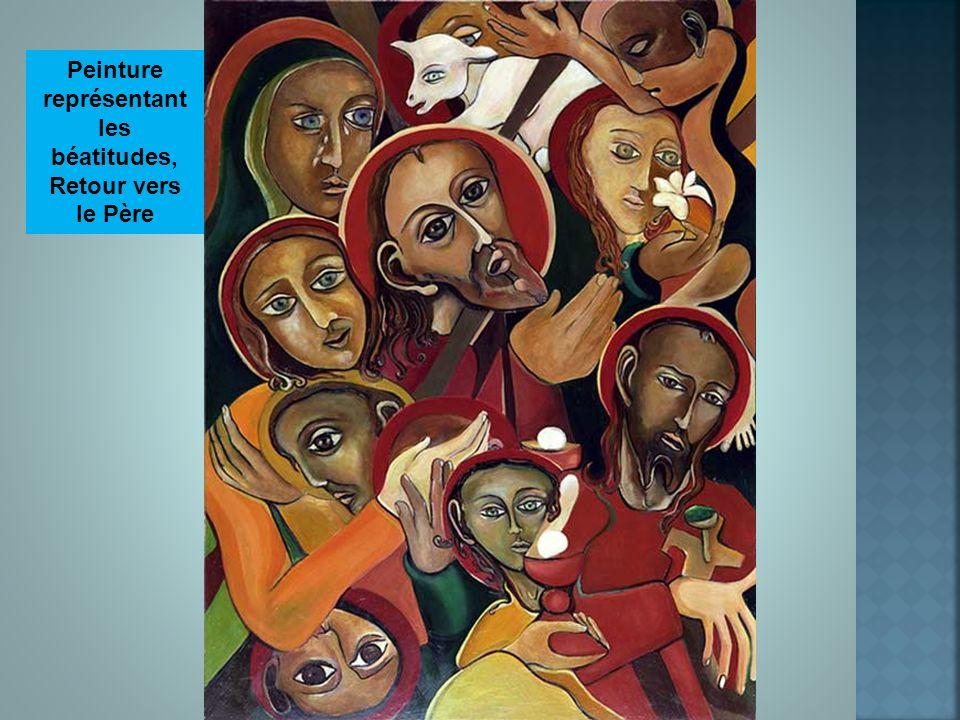 Peinture représentant les béatitudes,