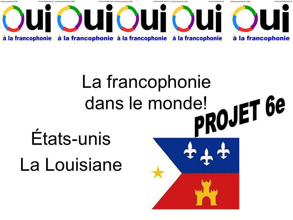 La francophonie dans le monde!