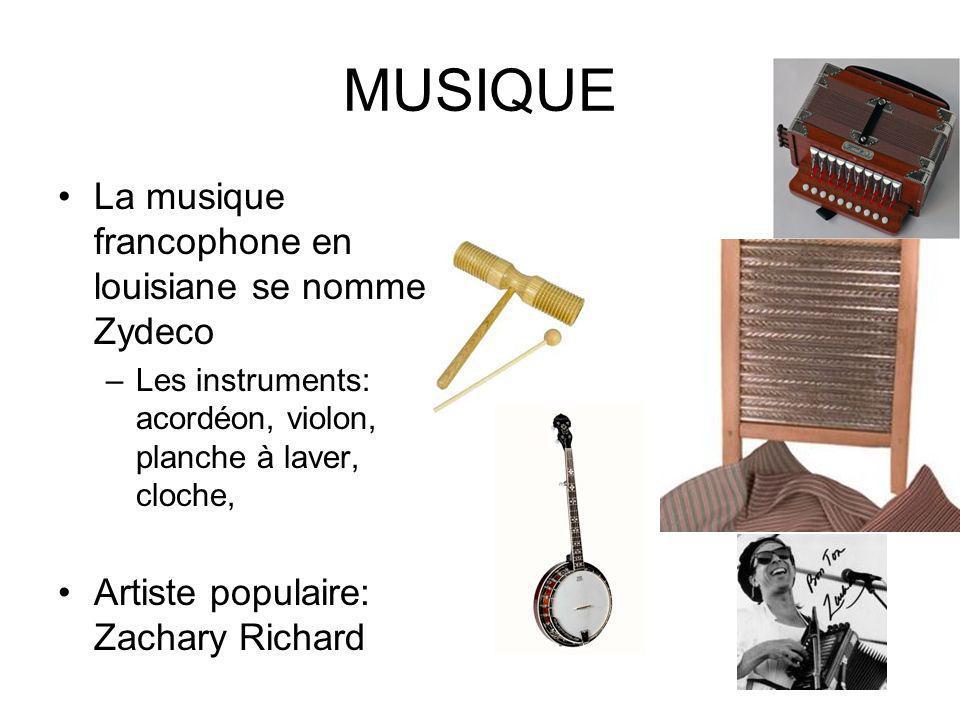 MUSIQUE La musique francophone en louisiane se nomme Zydeco