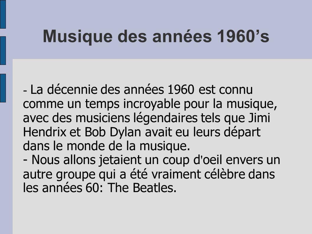 Musique des années 1960's