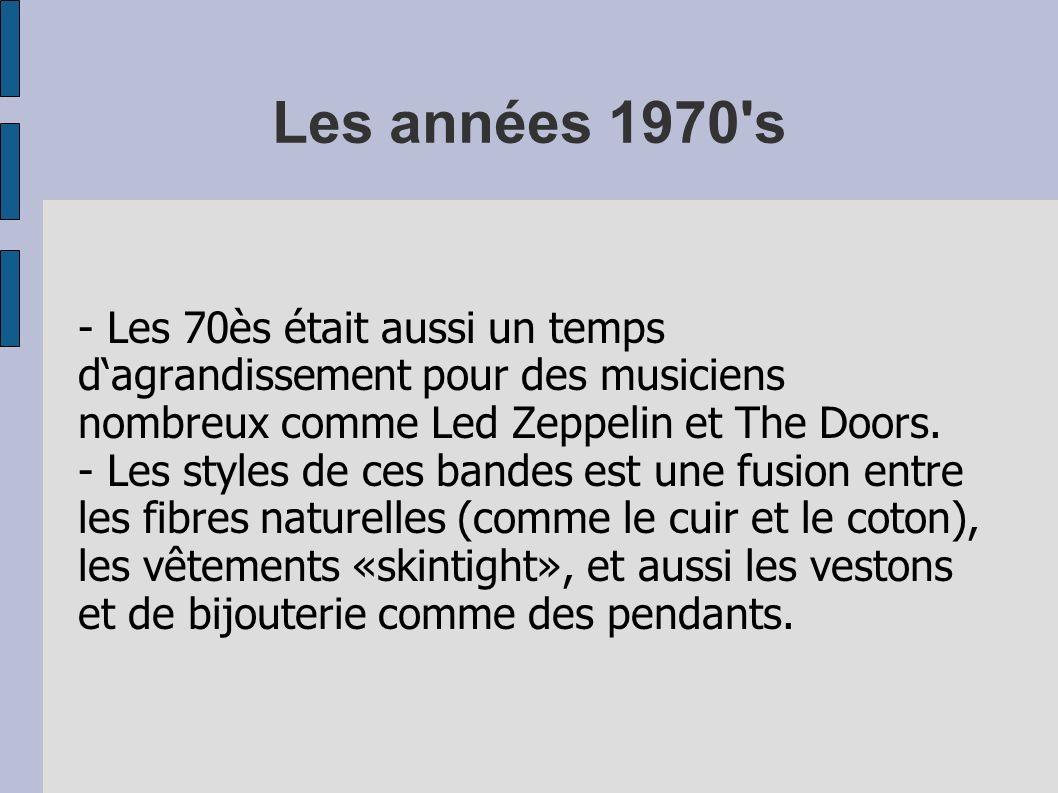 Les années 1970 s