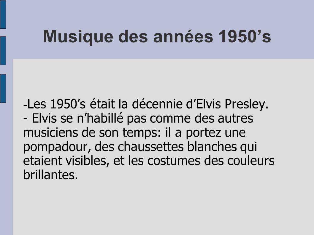 Musique des années 1950's