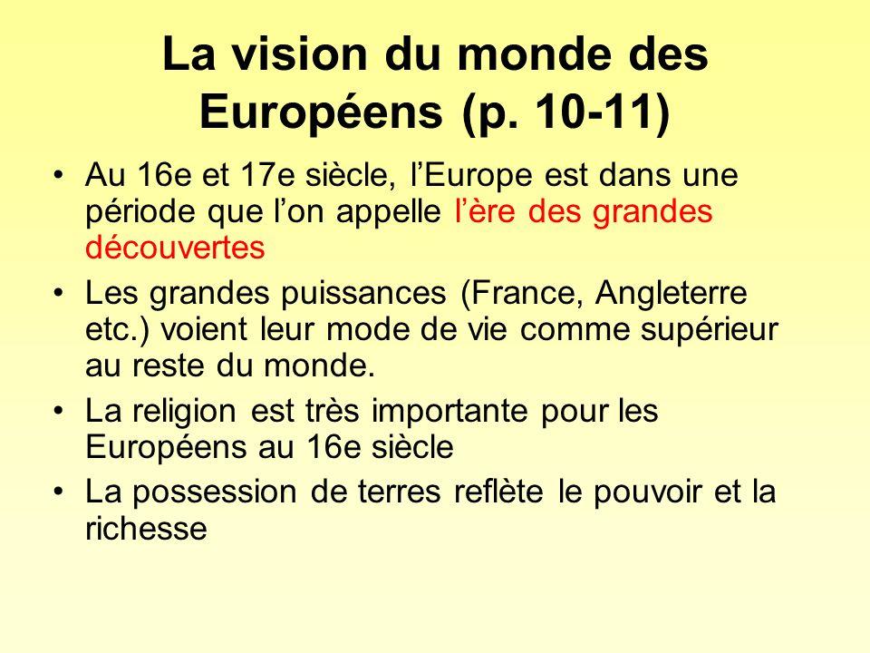 La vision du monde des Européens (p. 10-11)