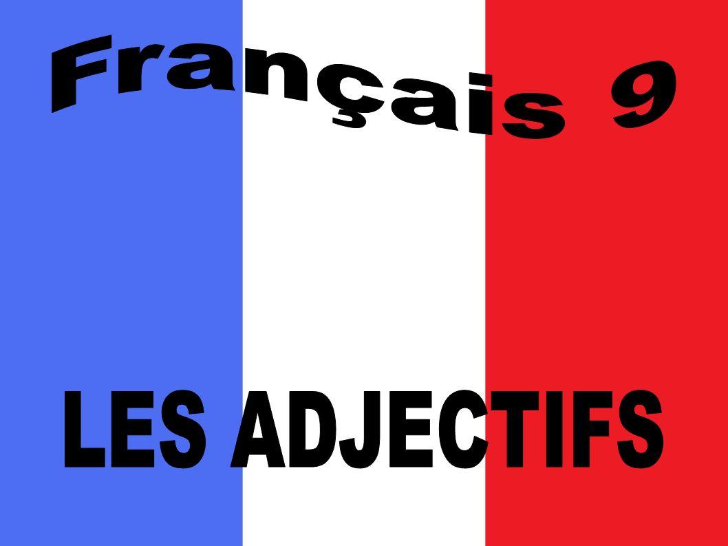 Français 9 LES ADJECTIFS
