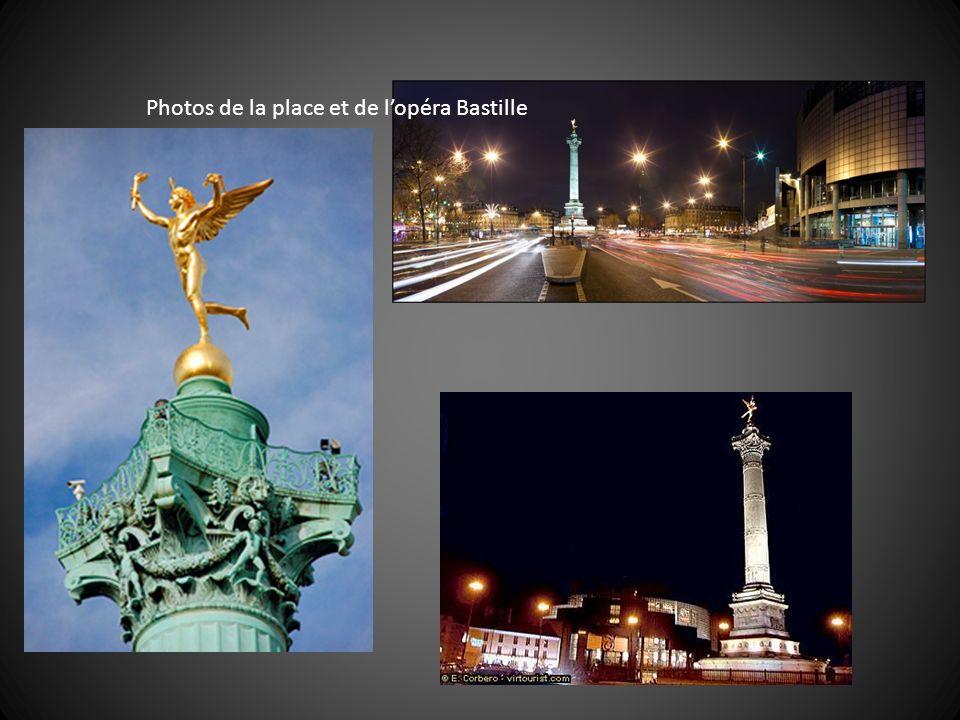 Photos de la place et de l'opéra Bastille
