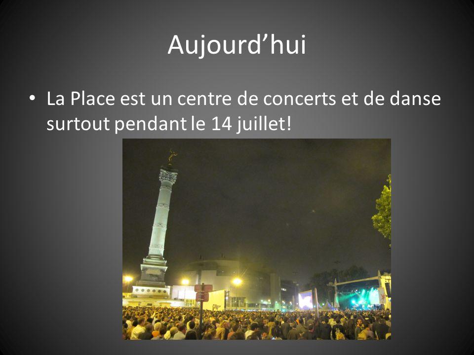 Aujourd'hui La Place est un centre de concerts et de danse surtout pendant le 14 juillet!
