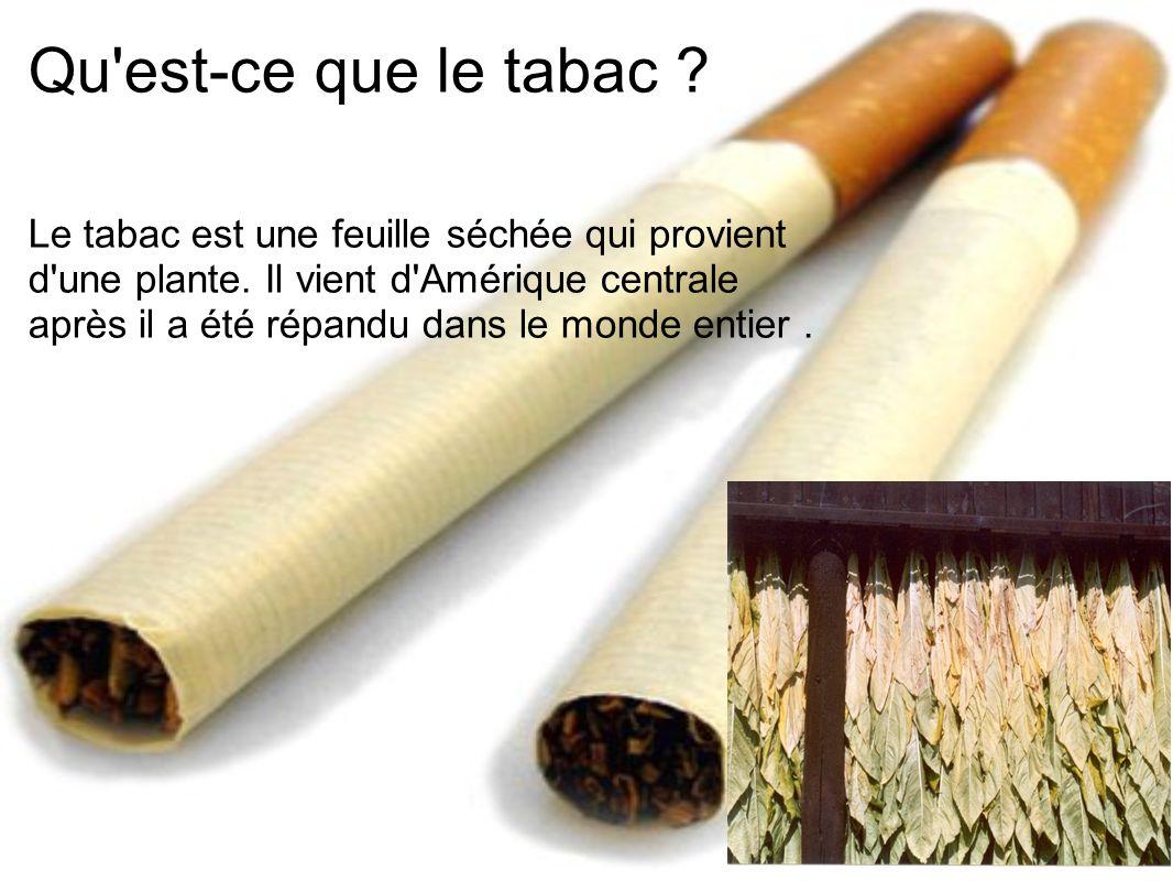 Qu est-ce que le tabac