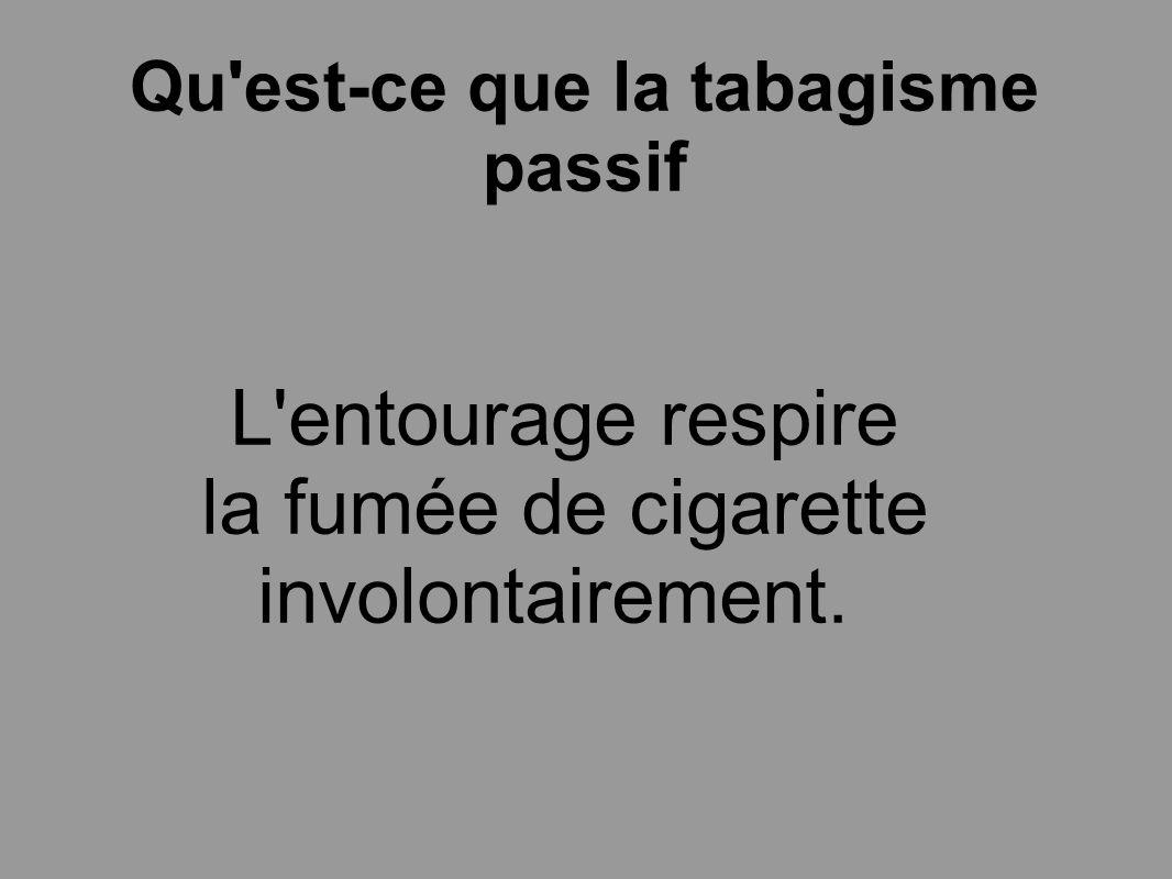 Qu est-ce que la tabagisme passif
