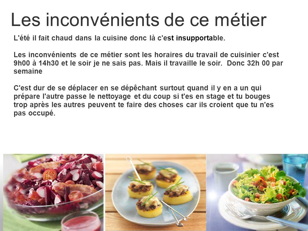 Stage de cuisinier stage du 07 02 11 ppt video online - Fiche metier chef de cuisine ...