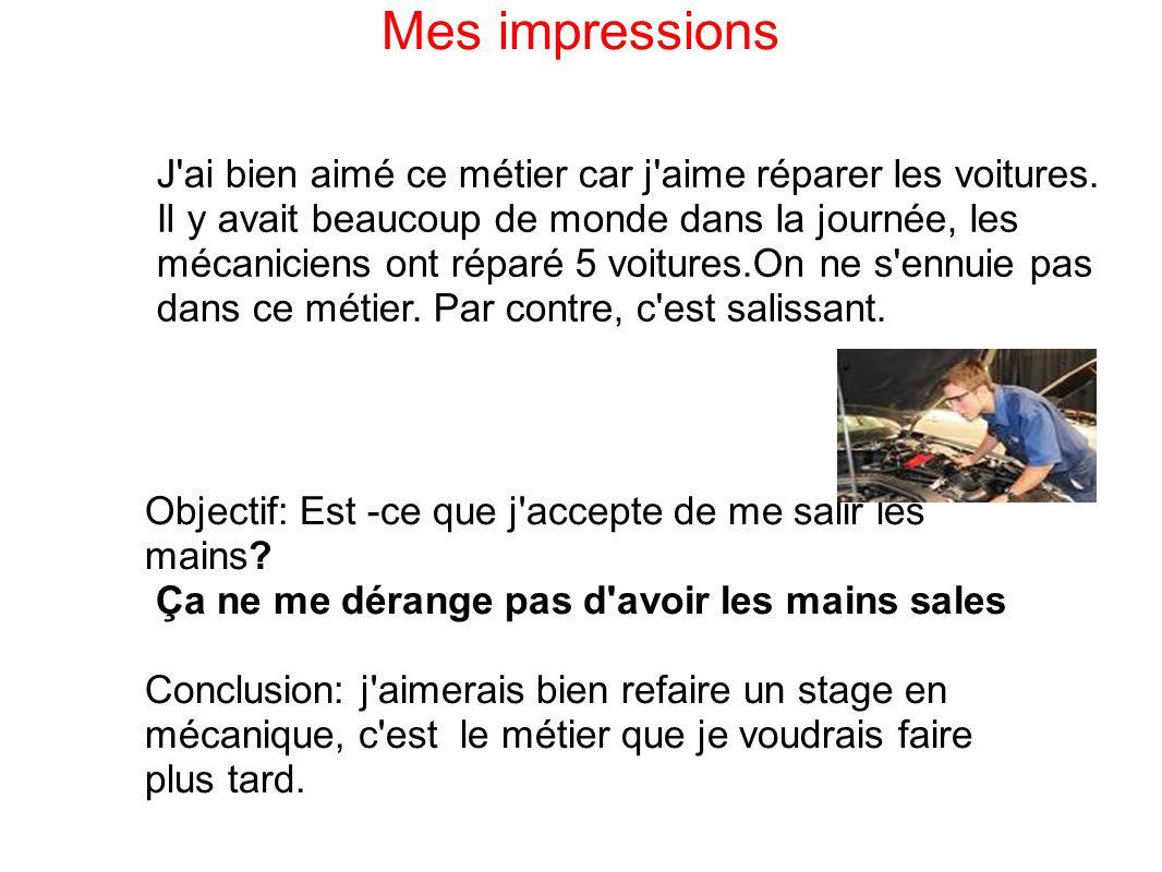 Mes impressions