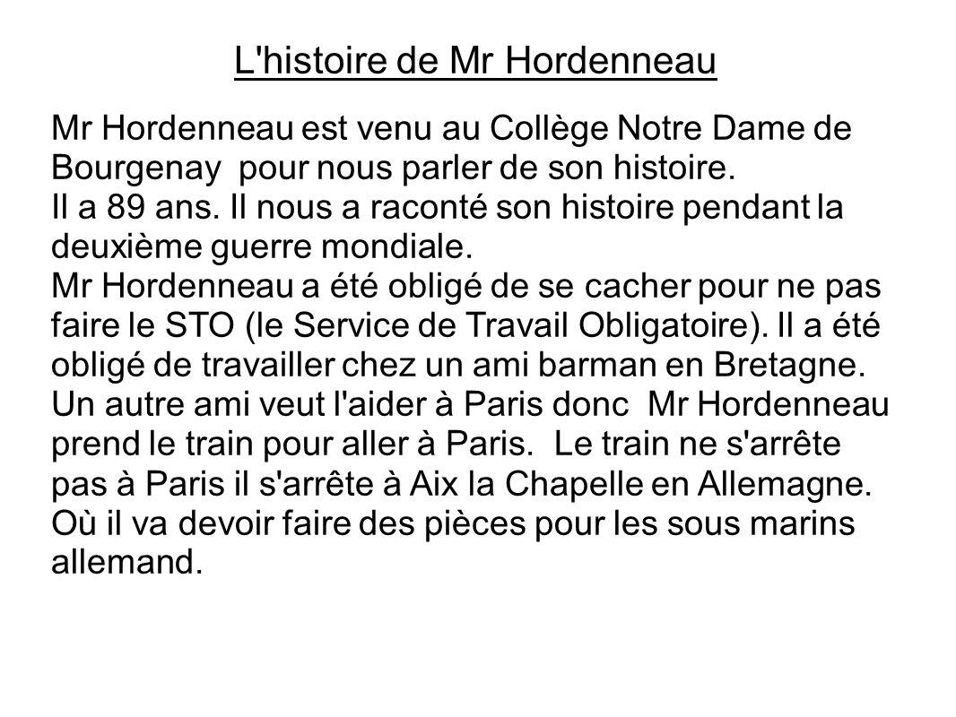 L histoire de Mr Hordenneau