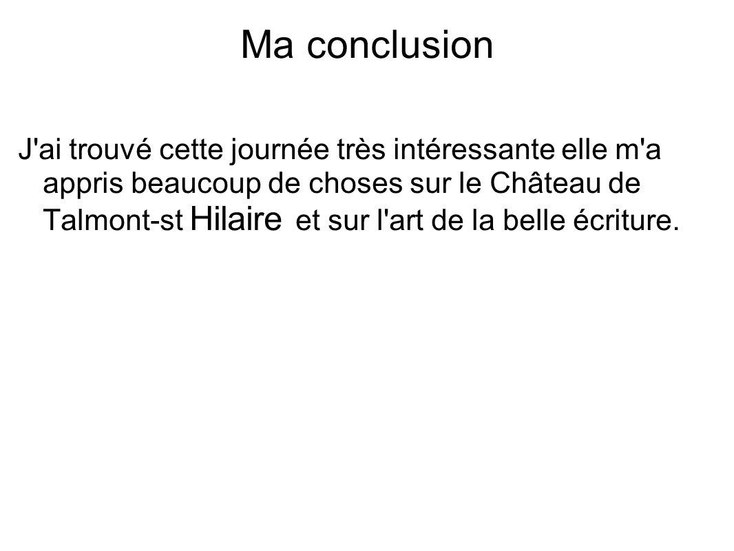 Ma conclusion