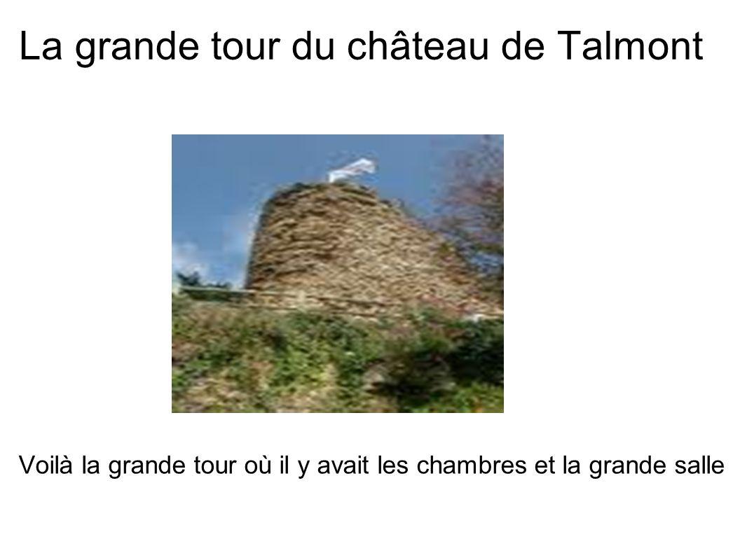 La grande tour du château de Talmont