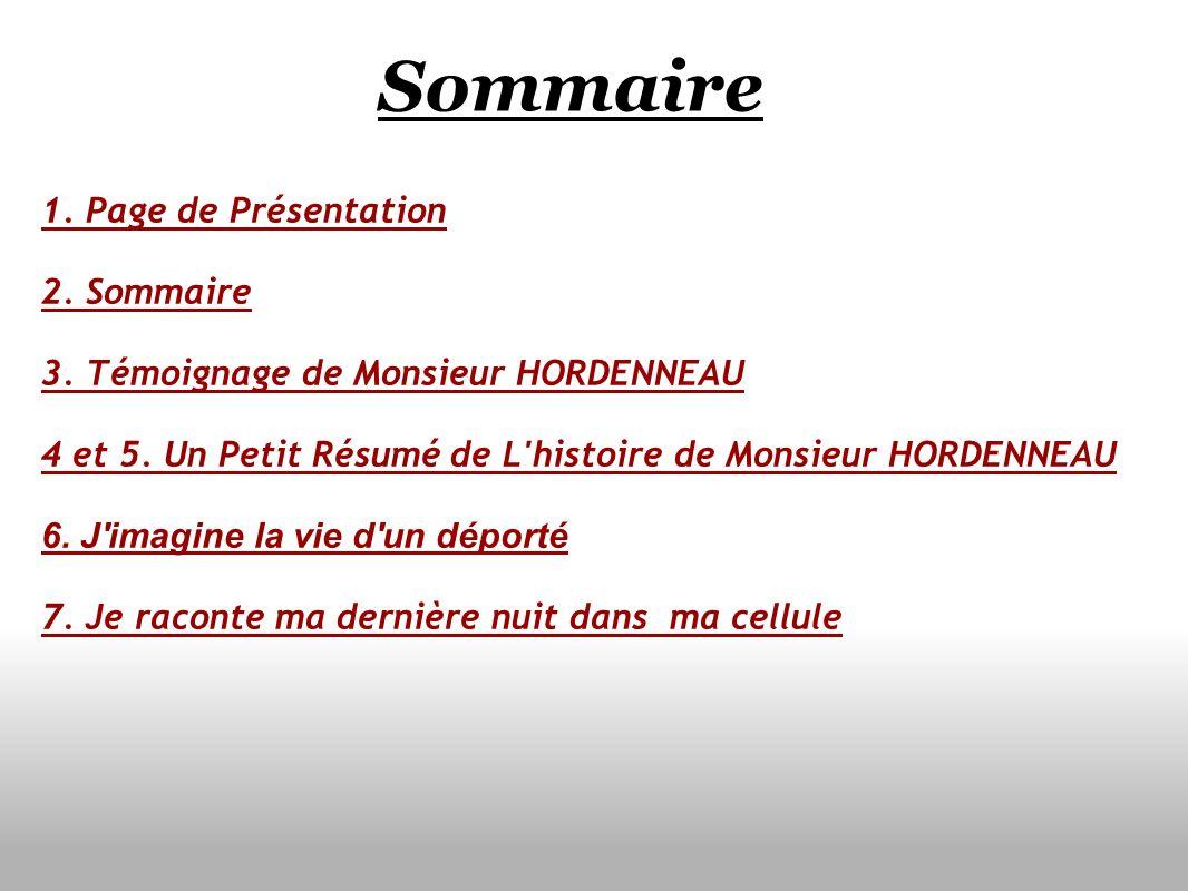 Sommaire 1. Page de Présentation 2. Sommaire