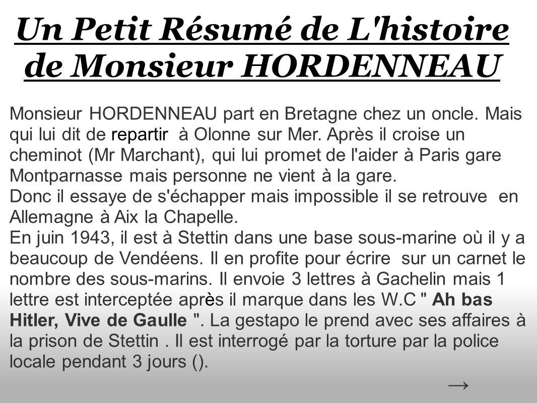 Un Petit Résumé de L histoire de Monsieur HORDENNEAU