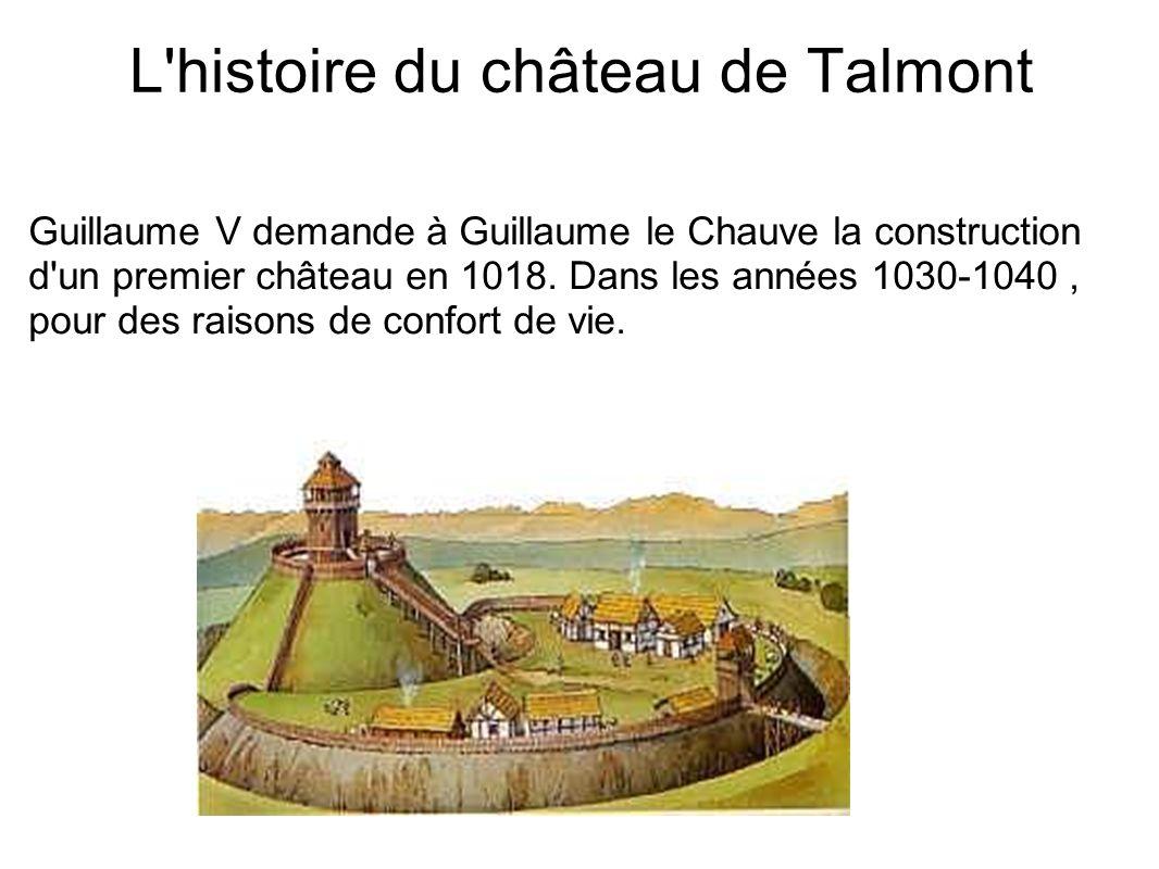 L histoire du château de Talmont