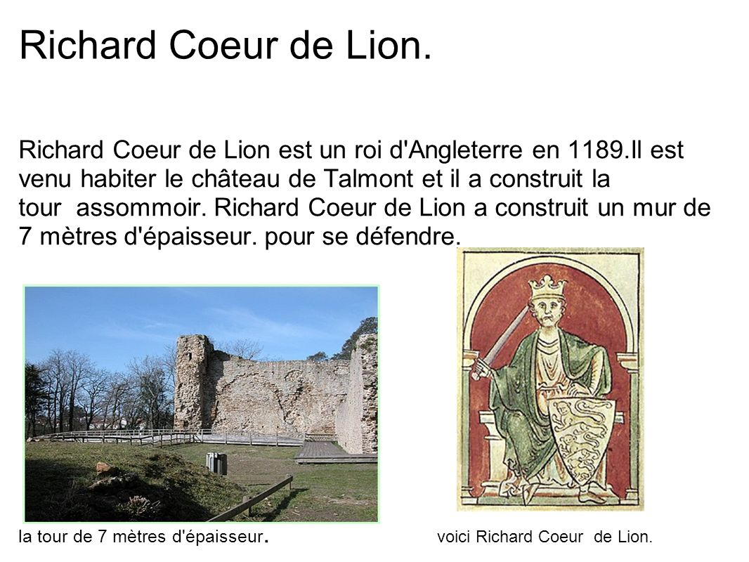 Richard Coeur de Lion.